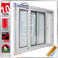Factory price AS2047 australian standard alluminium windows and doors double glazed windows