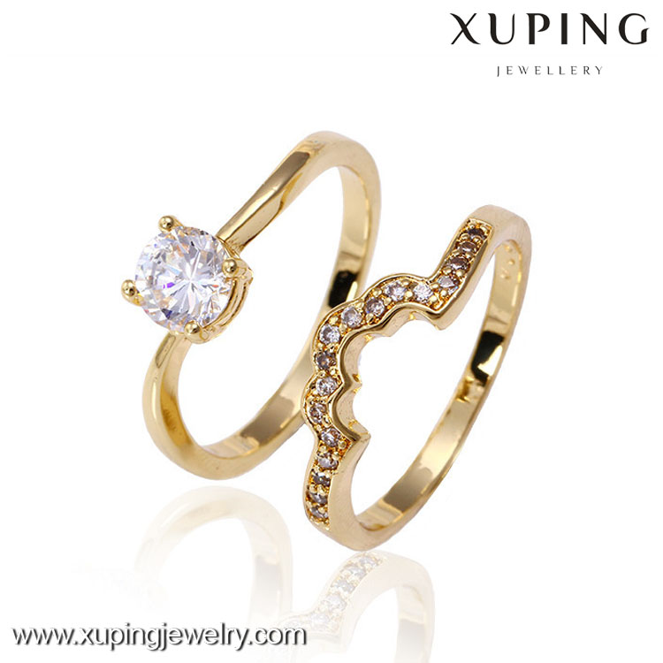 High quality 14k gold color new design ladies finger ring