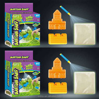 educational DIY sand glow in the dark 90 g magic sand with plastic molds colored box packed