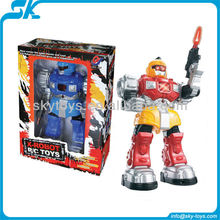 2-colors infrared rc robot toys Electric toy rc robot with shooting eva bullet 2012 hot selling big scale infrared rc robot toy