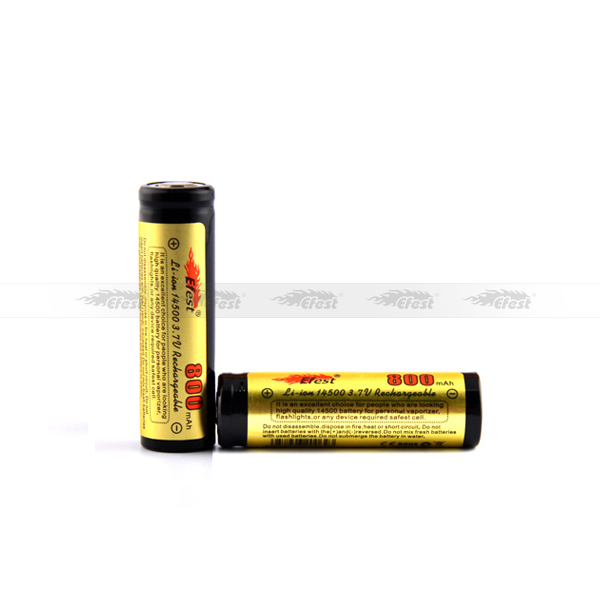 Liion 14500 battery Efest Li-ion 3.7V 14500 800mAH 3.7v Rechargeable Li-ion Battery 14500 battery