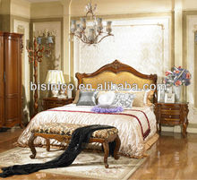 New Classical Bedroom Furniture Set - Bed, Night Stand, Dresser, Stool, Bench, Wardrobe, Cheval, Clothes Rack, MOQ:1SET(B21413)