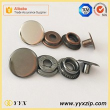 Promotional 831 big size spring metal snap button for down coat