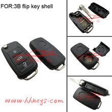 VW Golf Passat Polo Bora 3 Buttons Remote Car Flip Key Shell Case