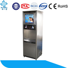 luxury high flow ro water dispenser with three taps high coin operated function