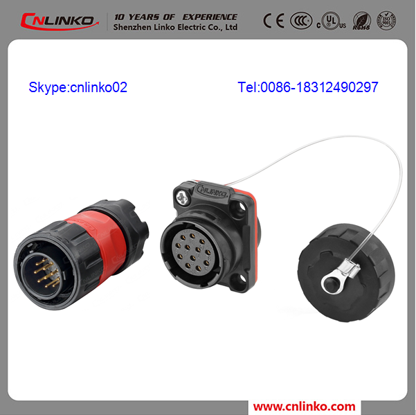 Automotive Electric Connector Ip67 M20 Male Female Cable Connector Plastic 12pin connector For Dry cleaning equipment