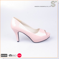 2016 New design comfortable pump women high heel shoes