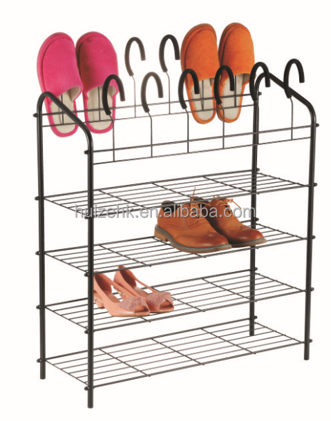 New Design Easy Assembled Iron Shoe Rack