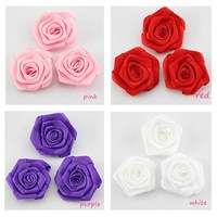 5000pcs lot Polyester Satin Ribbon Finished Bows Handmade Ribbon Flowers Wholesale