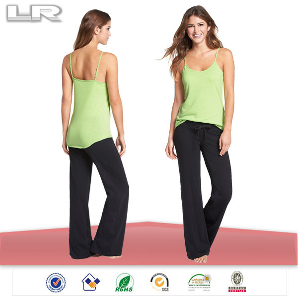 Cami and long pant wholesale ladies rayon bulk pajama set