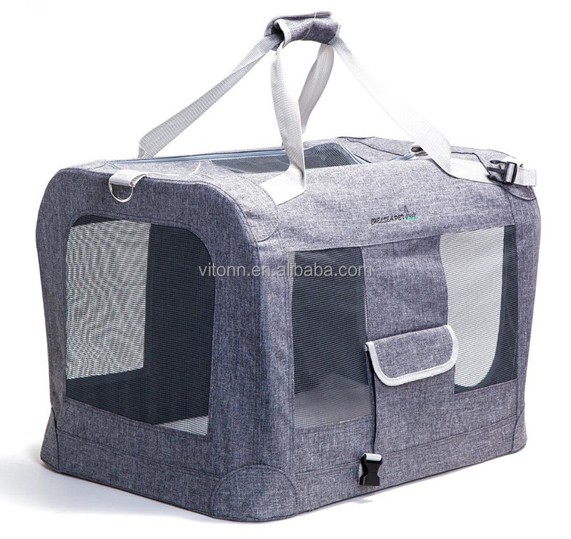 wholesale portable pet sleeping house with aluminum frame, oxford recycled pet bag carrier in the car