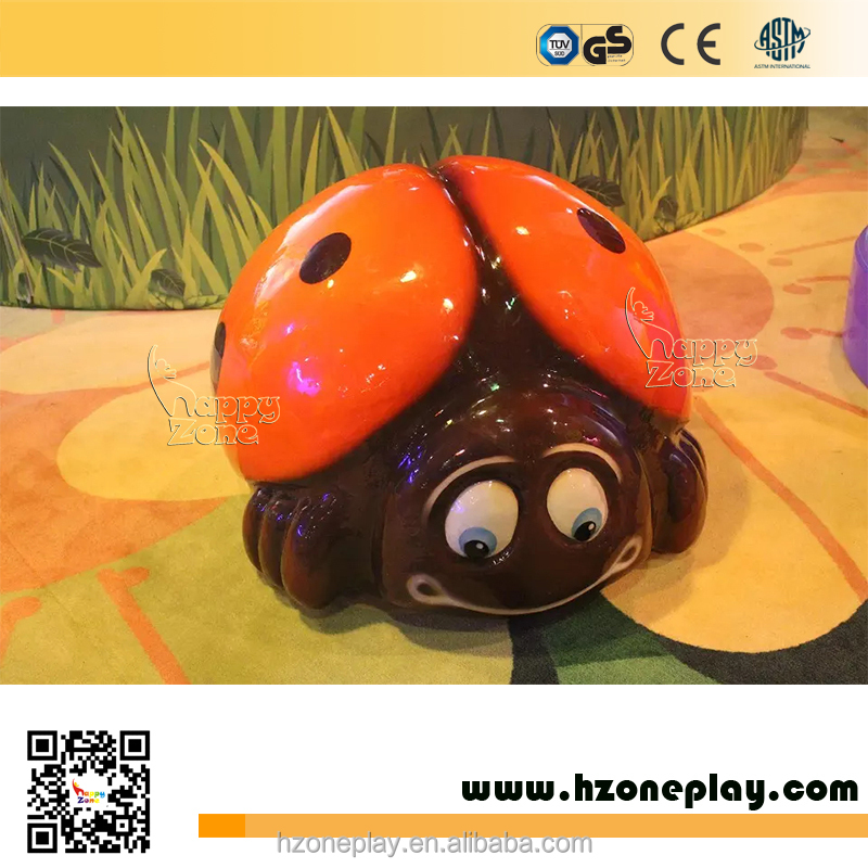 Cute Ladybird Indoor Attractions Funny PU Soft Animal Foam Sculpted Equipment for Kids Soft Play Corner