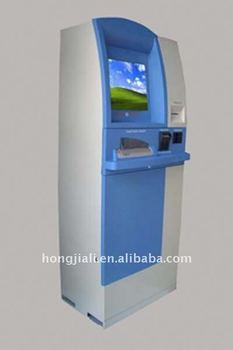 Self-service Kiosk with check scanner