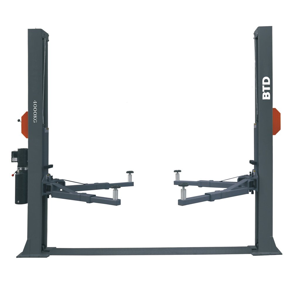 1 post car lift BTD 640 hydraulic car lift price widely used 2t car lift rolling jack with high quality