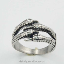 wholesale fashion jewelry 316L Stainless Steel claw ring guangzhou china