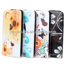 For HTC One Mini M4 New Flower Leather Flip Pouch Case Cover
