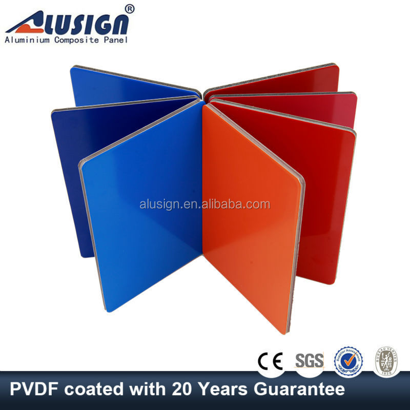 Alusign building construction materials 2015 latest design pvdf exterior wall paneling