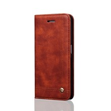 LNT7001 Factrory Customized Rivet Hidden Strong Magnet Leather Wallet Flip Case for Samsung Galaxy Note 7