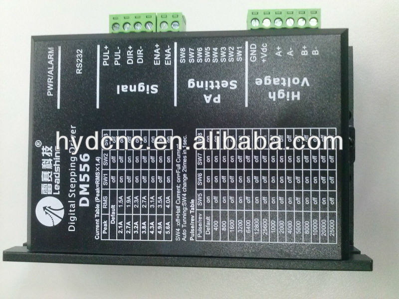 Leadshine 2-phase Digital stepper motor driver DM556 work 36-60 VDC 2.1A to 5.6A for Associated products NEMA23 motor
