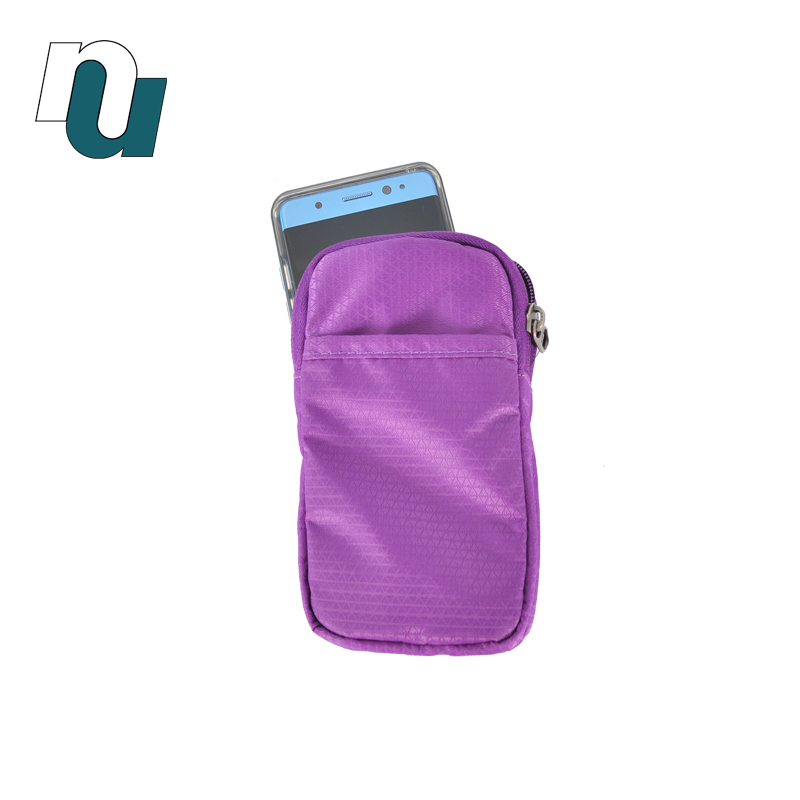 Tailor Made Casual Small Light Weight Accessory Purple Sporty Easily Carrying Waist Bag Waistbag for Mobile Phone Cell Phone