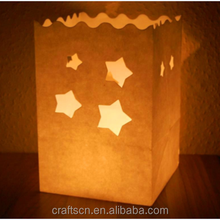 luminaire candle bags in paper craft