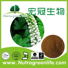 food grade herb extract powder Cimicifuga Romose L. Black Cohosh Polyphenol 4% HPLC price negotiable