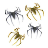 Chrome Emblem Badge 3D Sticker Car Motorcycle Scooter Chrome Body Design Fashion Spider Decoration Indoor Outdoor