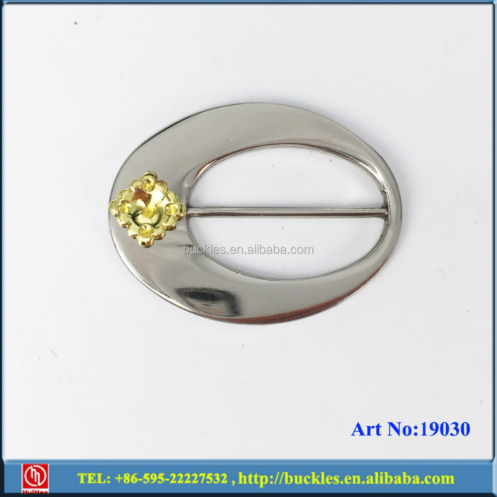 silver buckle for sandal ornament with rhinestone
