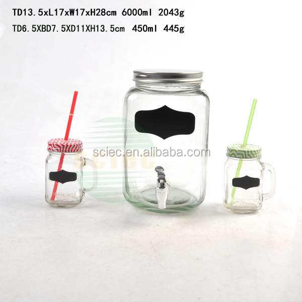 Big clear commerical juice cold drink dispensers with tap 8L