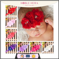 Wholesale silk flower infant baby plain elastic headbands