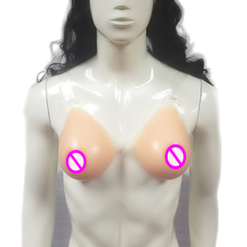 2000g/pair Hot Selling New Style Comfortable OEM Adhesive Rubber Fake Silicone Breast Cheap