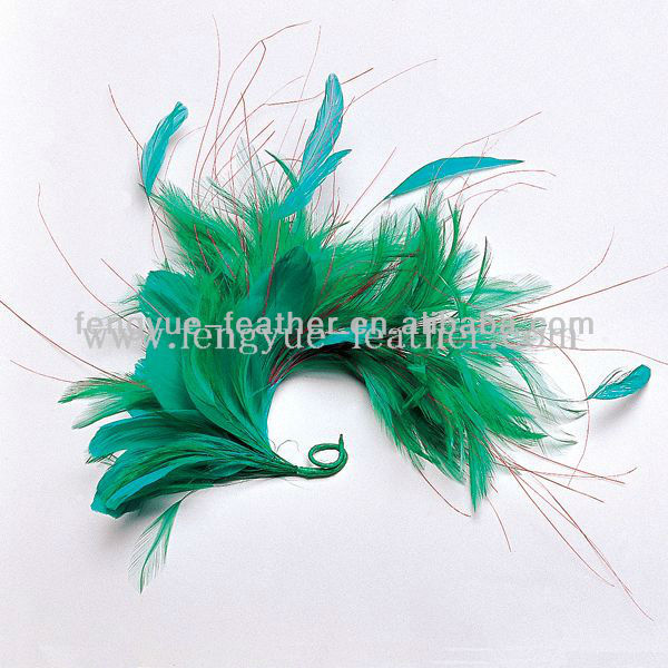 Factory wholesale cheap party dance wedding millinery hair accessories feather tree mount headpiece flower headwear fascinator