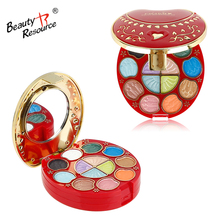 professional crown charm colorful magic eyeshadow mini makeup kit with powder blush and lipgloss