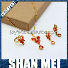 2013 Best Design Wholesale Leaf Shape Handmade Cleaning Copper Jewelry Set For Wedding