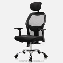 Tianjin Furniture manufacturer Mesh Material High Back Executive Chair Office Chairs Without Wheels