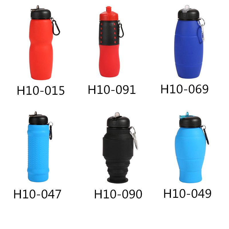 New Design Bpa Free Collapsible Silicone Water Bottle