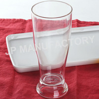 beer glass 12oz polycarbonate cup wholesale unbreakable cold drink cup