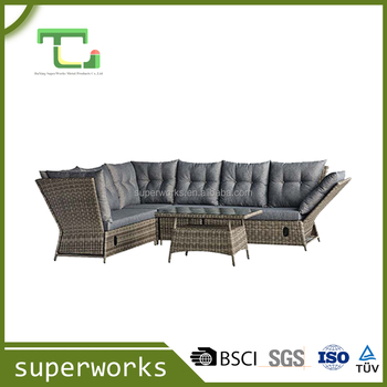 high quality shaped rattan sofa sets with high quality garden furniture outdoor