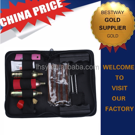 Manufacturer Co2 Tire Repair kit and co2 tire inflator valve for bicycle