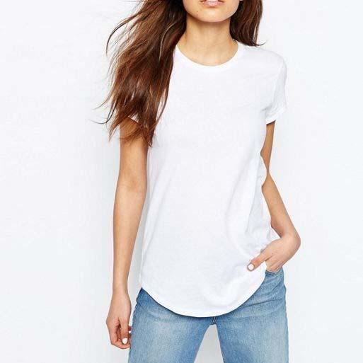 China Manufacturer Tshirt Printing Custom Women Plain White T ...