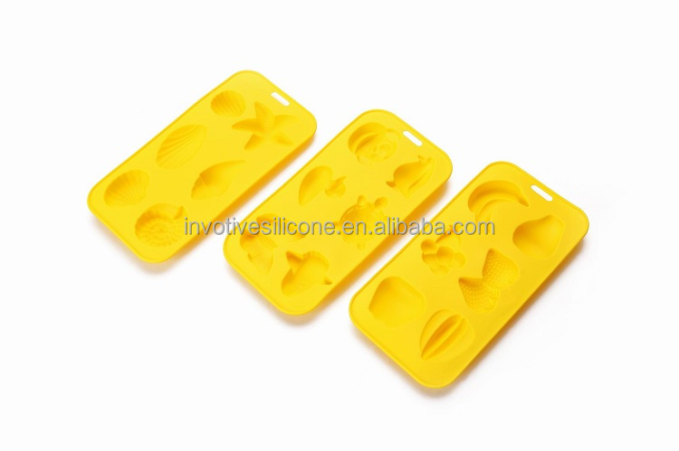 Food Grade Custom Design Silicone Fancy Ice Cube Trays