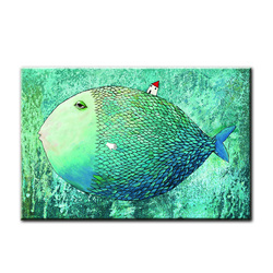 Cartoon Fish Kid Room Wall Picture Canvas Art Print Painting