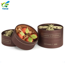 Custom printing fancy round candy bar packaging box, chocolate gift packaging tube box with your own logo