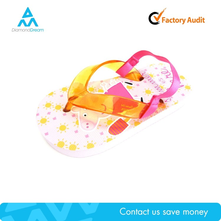 Cheap factory manufacture summer pink fashion girl child nude beach slipper