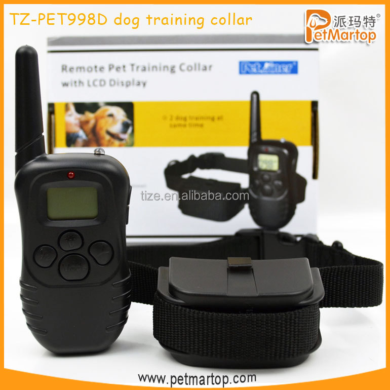 Rechargeable LCD Remote Shock Control Pet Dog Training Collar