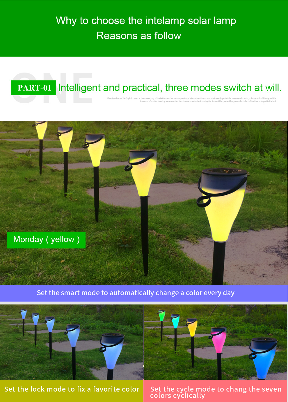 Best selling in USA for garden using solar powered lawn light parts in multi color switching supported by green nature energy