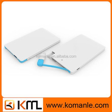 Ultra thin credit card power bank 2500mah for iPhone 6 Samsung all smartphones,a full charge to most mobile phones
