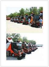Road sweeper with solar cleaning function