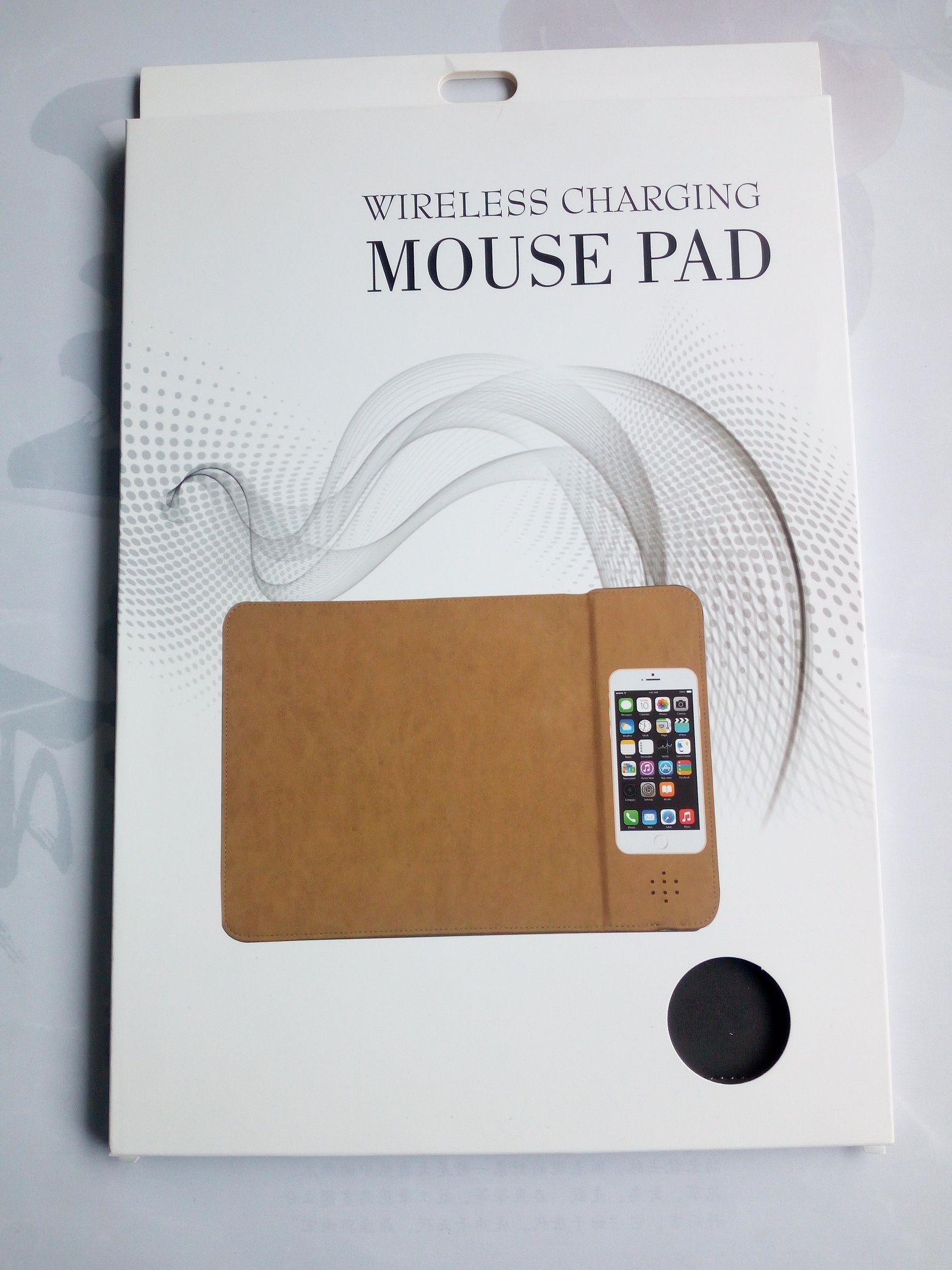 2018 new arrival Leather Wireless mouse pad fast charger power bank gift