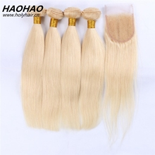2017 best quality blonde color 613 virgin remy European human hair extension for white people